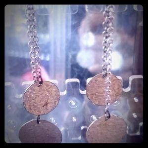 Dangly circular earrings